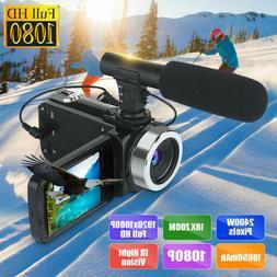 Mini Full HD 1080P 24MP 18X Zoom 3'' LCD Digital Camcorder V