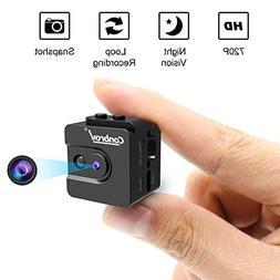 Mini Camera, Conbrov 720P Night Vision Spy Camcorder Loop Re