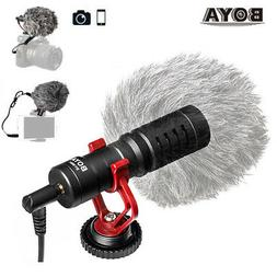 BOYA MM1 Shotgun Microphone for iPhone, Android Smartphone,