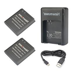 Newmowa Replacement Battery  and Dual USB Charger for Samsun