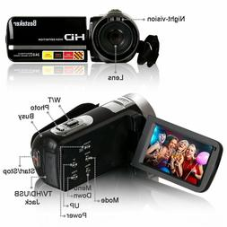 NEW! 11.pc Besteker HD Camera Camcorder 1080P Remote Control