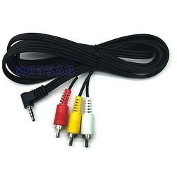 3 ft 3.5mm mini plug to RCA AV cable hook older 8mm and Mini
