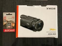 NEW Sony FDR-AX53 16.6MP 4K Ultra HD Handycam Camcorder Blac