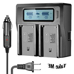NP-F970 Dual Battery Charger for Sony NP-F550 NP-F750 NP-FM5