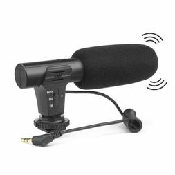 On-Camera Shotgun Stereo Recording Microphone Mic For Canon