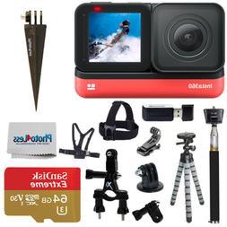 Insta360 ONE R 4K Edition | 64GB SD Card | Monopod | Spike M