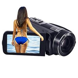 SEREE Camcorder 10x Optical Zoom Camcorder Full HD 1080p 30f