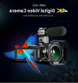 Ordro AC3 4K Camcorder Ultra HD WiFi Video Camera(1080P 60FP