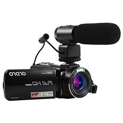 Ordro HDV-Z82 Full HD Camcorder with 10X Optical Zoom, 120X