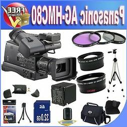 Panasonic AG-HMC80 3MOS AVCCAM HD Shoulder-Mount Camcorder +