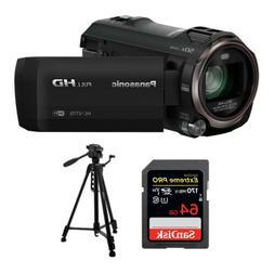Panasonic HC-V770 HD Camcorder w/ 64 GB SD Card & 59-Inch Tr