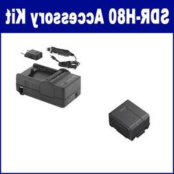 Panasonic SDR-H80 Camcorder Accessory Kit includes: SDM-130