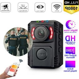 Portable Police Security Body Camera 1080P 170° For Law Enf
