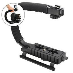 Pro Video Stabilizing Handle Grip for Samsung GX-10 Vertical Shoe Mount Stabilizer Handle