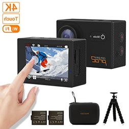 MGcool PRO2 4K Touchscreen Action Camera, 16MP Ultra HD Wate