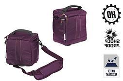 Navitech Purple Camcorder / Camera / Shoulder Bag / Case For
