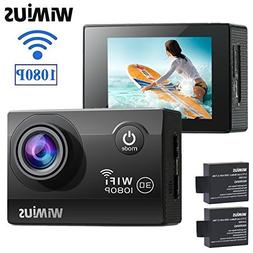 WIMIUS Q2 Action Camera HD 1080P WiFi 12MP 30M Underwater Wa