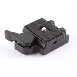 Hersmay Quick Release Plate Clamp Adapter for Manfrotto 200P