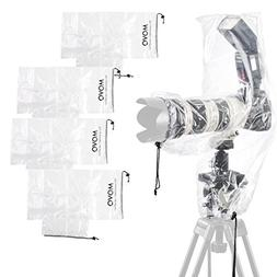 Movo  RC2 Clear Rain Cover for DSLR Camera, Flash, and Lens