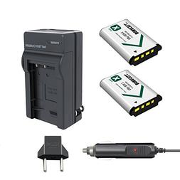 Bonacell 2 Pack Replacement 1600mAh Sony NP-BX1 Battery and