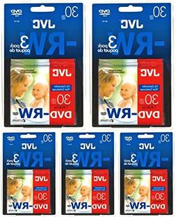 JVC 80MM Rewritable Mini DVD-RW for Camcorders - Package of