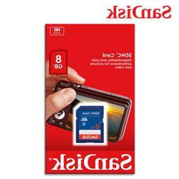 SanDisk 8GB SD High Capacity Card