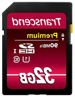 Transcend 32GB SDHC Class 10 UHS-1 Flash Memory Card Up to 4