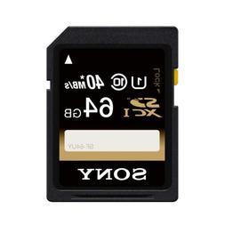 Sony 64GB SDXC Class 10 UHS-1 R40 Memory Card