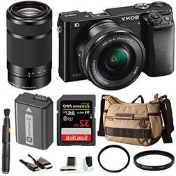 Sony Alpha a6000 Mirrorless Camera w/ 16-50mm & 55-210mm Len