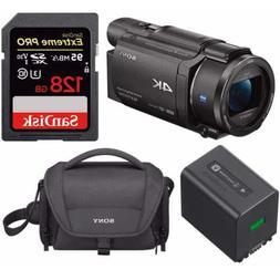 Sony FDR-AX53 UHD 4K Handycam Camcorder NP-FV70A V-Series Ba