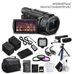 Sony FDR-AX53 4K Ultra HD Handycam Camcorder. Extra Battery