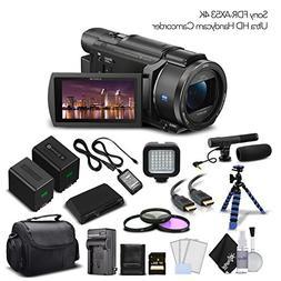 Sony FDR-AX53 4K Ultra HD Handycam Camcorder. Extra Battery