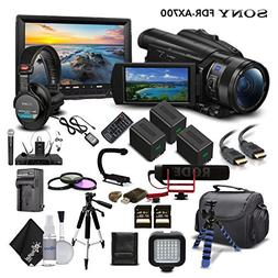 Sony Handycam FDR-AX700 4K HD Video Camera Camcorder + 2 ext