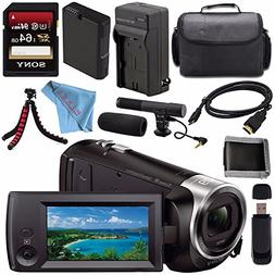 Sony HDR-CX405 HDR-CX405/B HD Handycam Camcorder + Rechargab