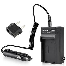 Kastar Charger with Car Adapter for Sony NP-FH50, FH30, FH70