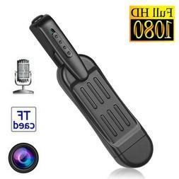 Spy Mini Camera Pen Hidden Pocket 1080P HD Portable Body Vid
