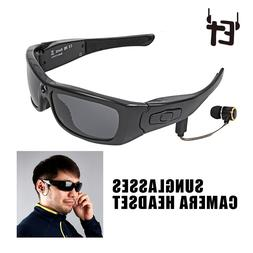 ET Sunglasses <font><b>Camera</b></font> Headset HD1080P Blu