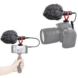 Super Cardioid Shotgun Video Microphone Universal Compact On