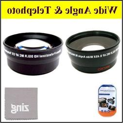 58mm 2X Telephoto Lens + 58mm 0.45x Wide Angle Lens with mar