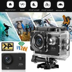 Touch Screen 140°Lens 4K HD WiFi Action Camera Waterproof C