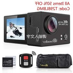 LeadTry TP2 HD Action Camera Full 4K Wi-Fi Sports Camera, Ul