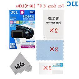 "JW 2PCS High transmission Anti-Fingerprints 3.5""LCD Film Scr"
