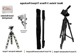 3 Piece Tripod Package For Sanyo FH1, TH1 Camcorders. Includ