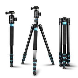 Camera Tripod for Camera - Aluminum Tripod Monopod with 360
