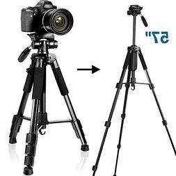 SAILNOVO Tripod,Camera Tripod Stand for DSLR Camcorder Canon