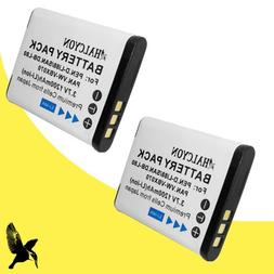Two Halcyon 1200 mAH Lithium Ion Replacement Battery for San