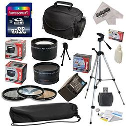 Ultimate Accessory Kit for Canon HF S10 S11 S20 S21 S30 S100
