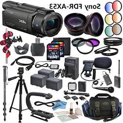 Professional Ultra HD 4K Camcorder Bundle - Sony FDR AX53 Ca