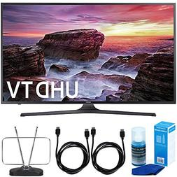 "Samsung UN55MU6290FXZA 54.6"" LED 4K UHD Smart TV  Bundle wit"