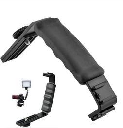Universal Camera Grip L Bracket with 2 Standard Side Hot Sho